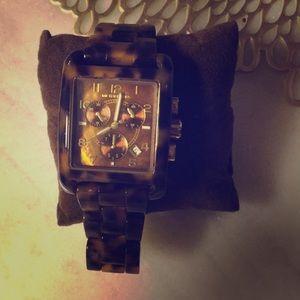 NWT: Michael Kors Tortoise Shell watch